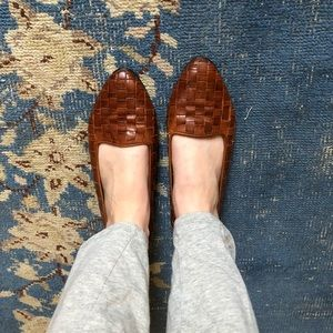 Vintage Woven Leather Flats 8